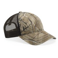 Mesh Back Camo Cap With Flag Undervisor