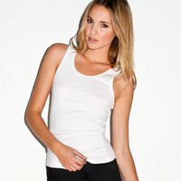 +Canvas Ladies' Baby Rib Tank Top