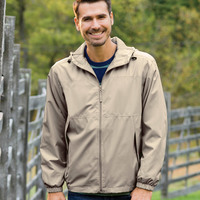 UltraClub Adult Micro-Poly Full-Zip Hooded Jacket