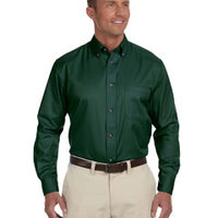 Men's Easy Blend™ Long-Sleeve Twill Shirt with Stain-Release