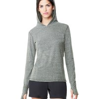 Ladies' Triblend Long Sleeve Hooded Pullover