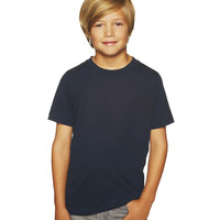 Next Level Boys' Short-sleeve Fine Jersey Crew