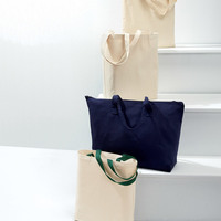 UltraClub® Tote with Gusset and Contrasting Handles