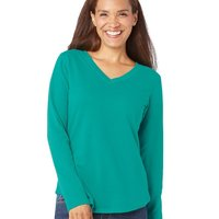 Ladies' French Terry V-Neck