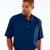 UltraClub® Men's Cool & Dry Pebble-Knit Polo