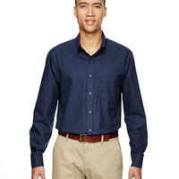 Men's Paramount Wrinkle-Resistant Cotton Blend Twill Checkered Shirt