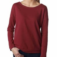Ladies' Terry Long-Sleeve Scoop Tee