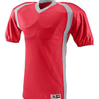 Youth Polyester Diamond Mesh V-Neck Jersey with Contrast Side Inserts