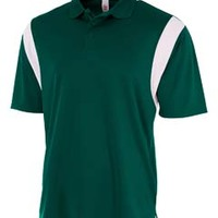 Men's Color Blocked Polo Shirt w/ Knit Collar