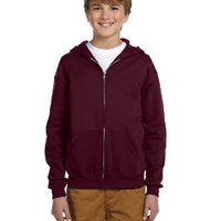 Youth 8 oz., 50/50 NuBlend® Fleece Full-Zip Hood