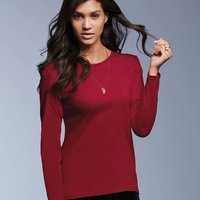 Missy Fit Ringspun Long Sleeve T-Shirt