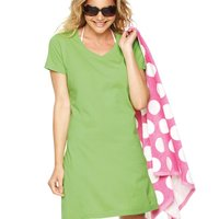 Ladies' Fine Jersey V-Neck Coverup