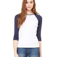 Ladies' Baby Rib Three-Quarter Sleeve Raglan T-Shirt