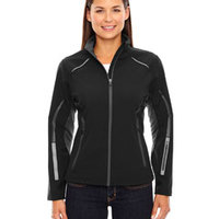 Ladies' Pursuit Three-Layer Light Bonded Hybrid Soft Shell Jacket with Laser Perforation