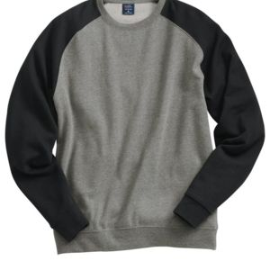 Fitted Raglan Crewneck Sweatshirt Thumbnail