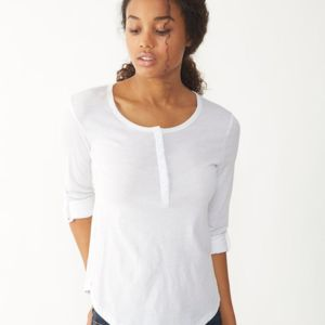 Women's Rolled Sleeve Henley Thumbnail